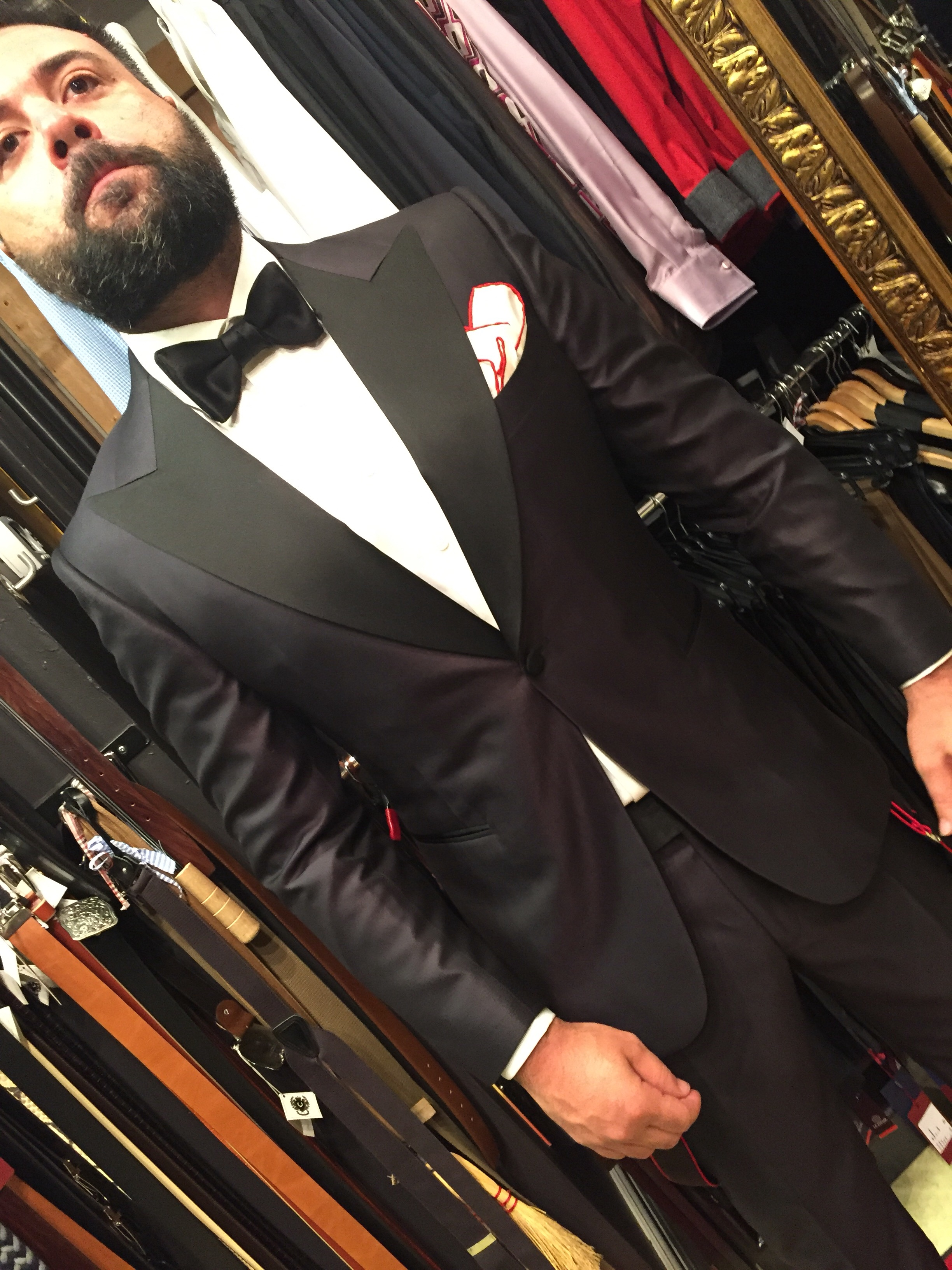 Bespoke Wedding Suit Ariston Silk Fabric Bespoke Tuxedo Peak Lapel