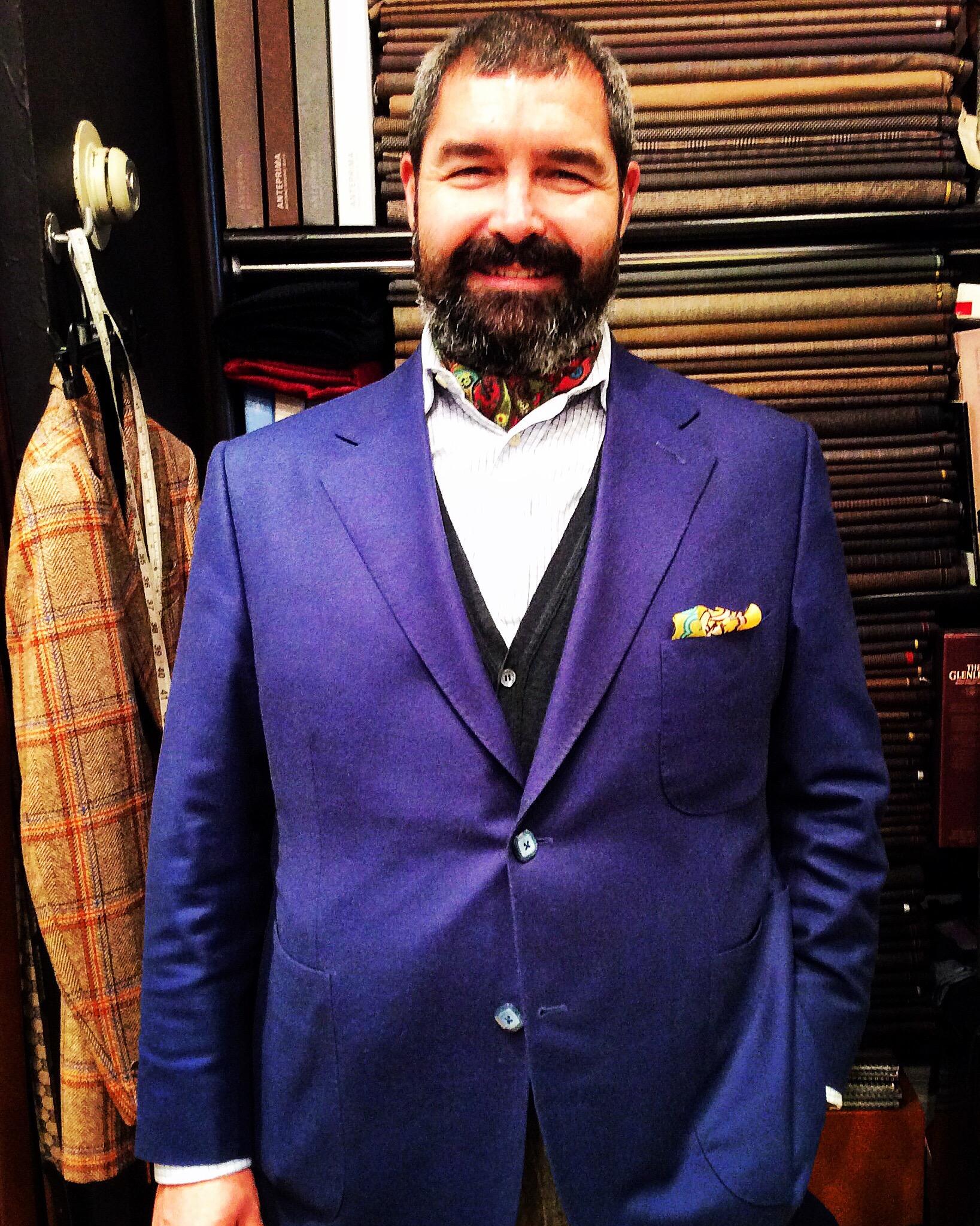 #suits #bespoketailoring #customtailoring #madetomeasure #handmadesuits #GQstyle #sartorial #italiandesigners #menwithstyle #sharpmagazine